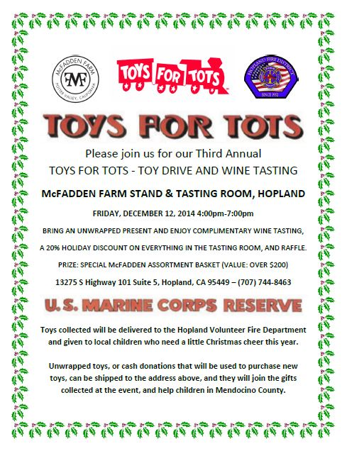Sample Letters Toys For Tots : Foursight wines john on wine a
